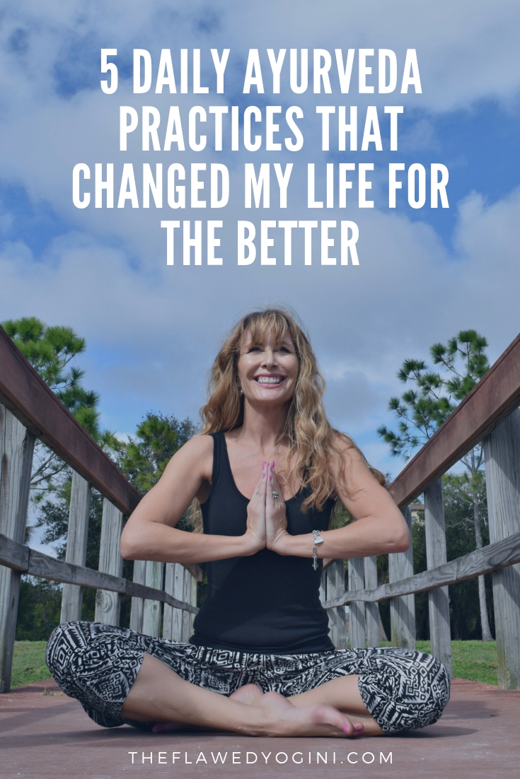 Ayurveda is traditional Hindu medicine, and I'm hooked on it! These five simple Ayurvedic lifestyle changes have improved my life significantly. #ayurveda #yoga #midlife