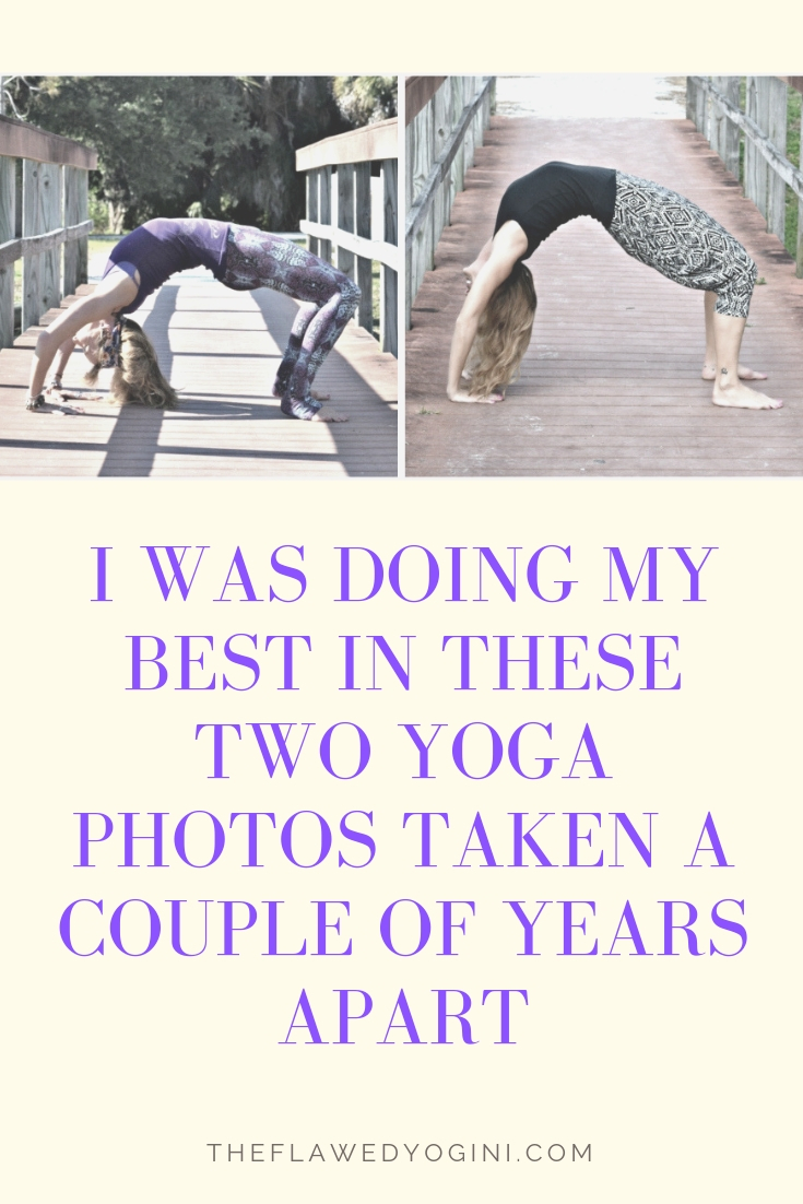 I've learned that one's best can look quite different over time. But it always feels the same! #yoga #wheelpose
