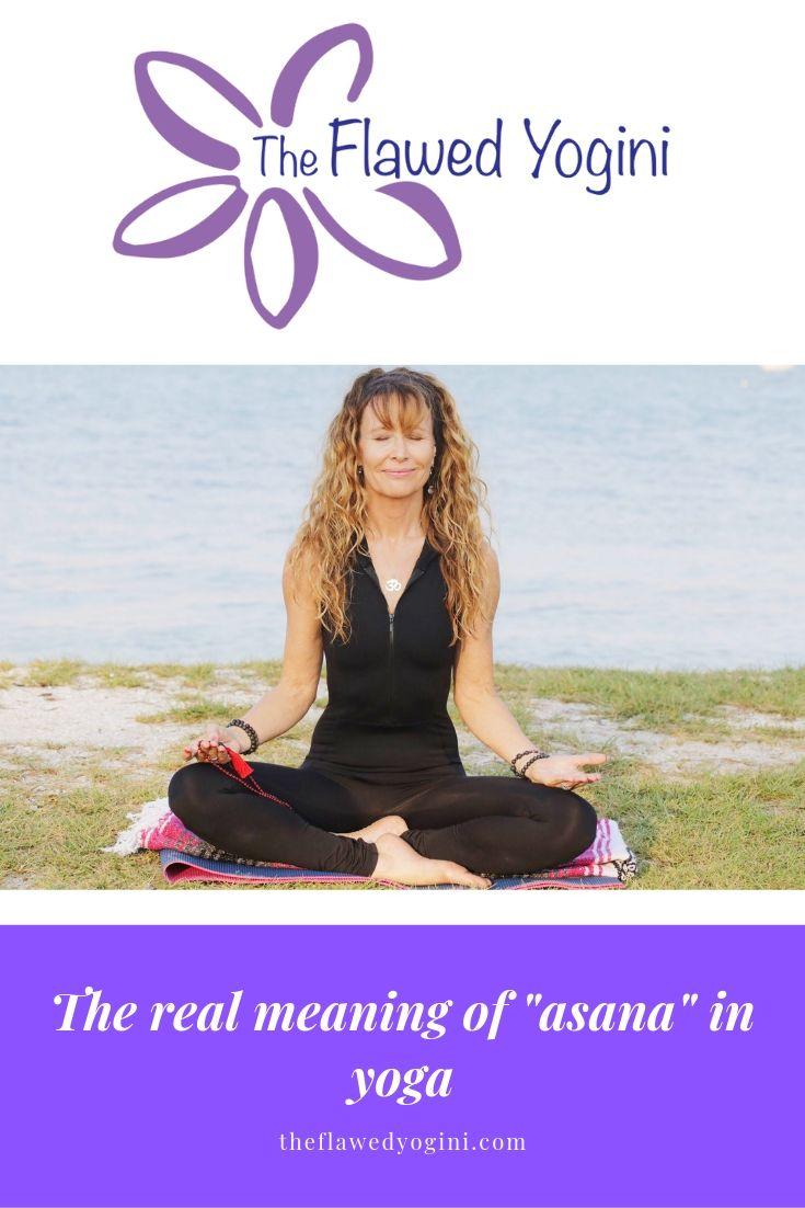 Asana was originally lotus or half lotus pose, and later evolved into yoga poses designed to keep the body limber and the mind focused to meditate. #yoga #asana #meditation #yogasutras