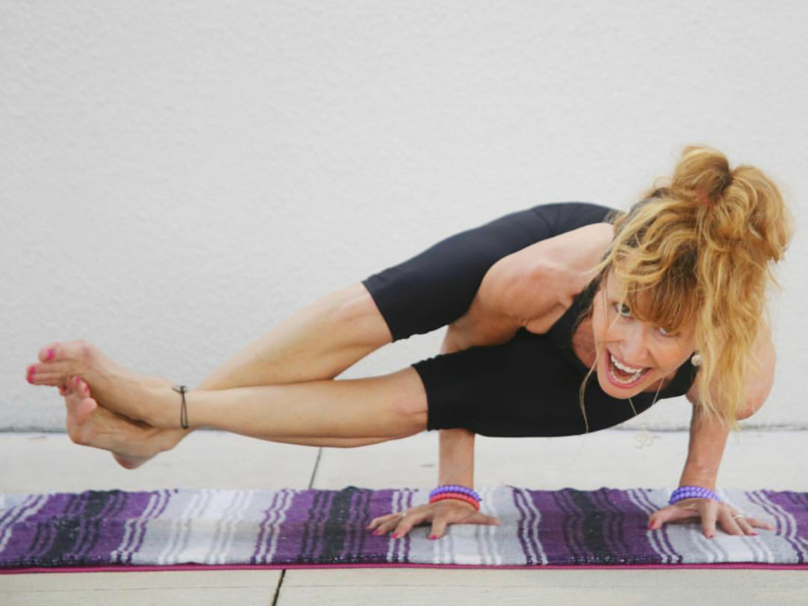 Yoga is not all about the poses, but in my fifties, arm balances make me feel strong, joyful, happy and free. I see no reason to stop challenging myself.