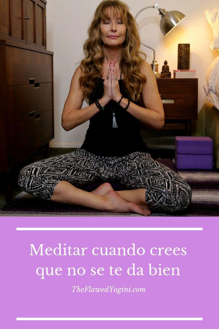 Yo pensaba que era incapaz de sentarme a meditar. Pero resulta que lo que necesitaba era dedicarle más tiempo. Tú también puedes. #meditar #yoga