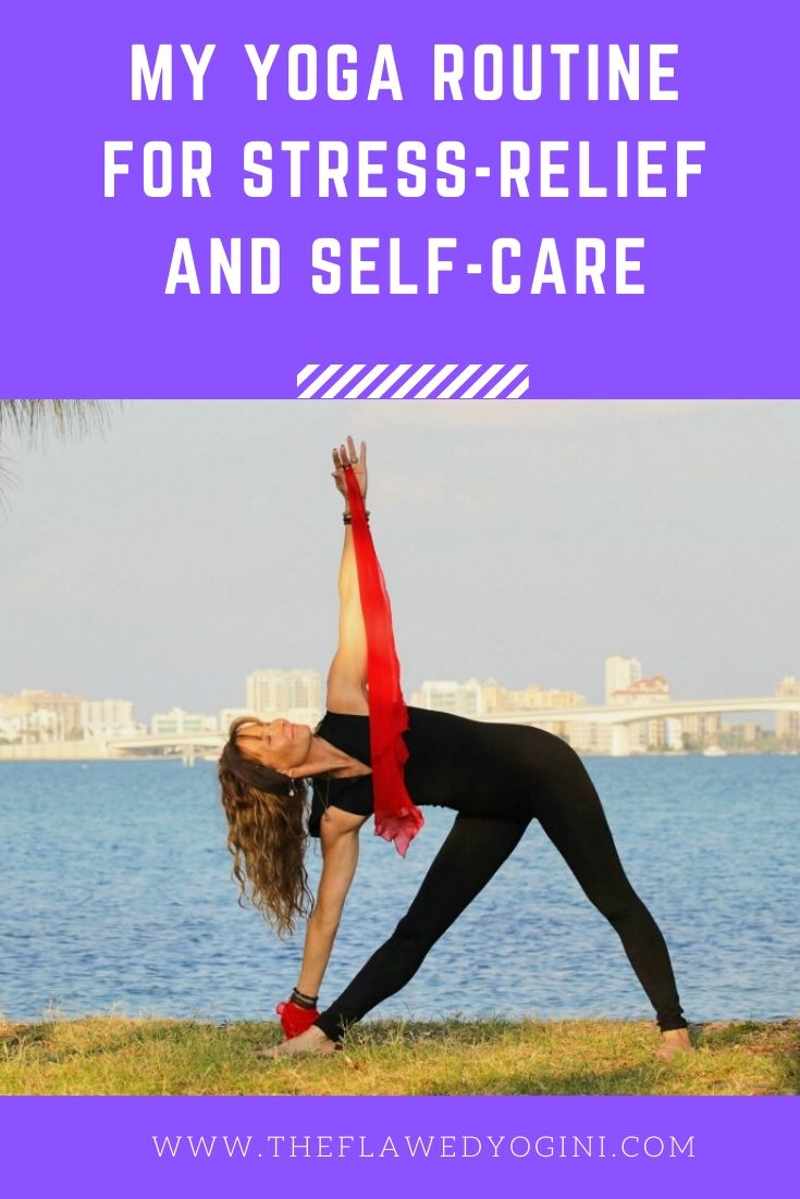 In the past I would let stress get the better of me. Today as I felt my stomach contract, I realized I needed to clear my schedule for yoga and self-care. #yoga #selfcare